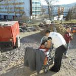 Kinderbtreuung auf der Baustelle