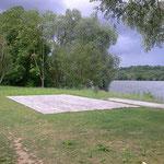 in-folio / Mantes la Jolie / plateau d'évolution sur la berge de Seine