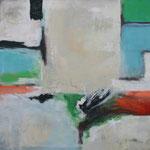 Ohne Titel 1702, Öl und Acryl auf Leinwand, 2017 , 100 x 100 cm