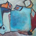 Farbenspiel VI, 65 x 80 cm, Öl und Acryl auf Leinwand