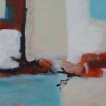 Ohne Titel, Öl und Acryl auf Leinwand, 2017 , 80 x 140 cm