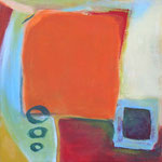 In Erwartung I, 2004, Acryl auf Leinwand, 40 x 40 cm, Privatbesitz