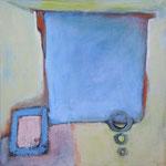 In Erwartung II, 2004, Acryl auf Leinwand, 40 x 40 cm, Privatbesitz