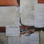 1809, Öl und Acryl auf Leinwand, 2018, 110 x 110 cm