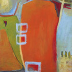 Im Fluss sein, 2004, Acryl aud Hartfaser,  90 x 80 cm