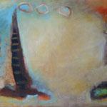 Zauberberg, 65 x 100 cm, Öl und Acryl auf Leinwand