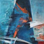 Paradiesvogel, Öl und Acyl auf Leinwand, 2019, 80 x 80 cm