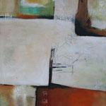 Ohne Titel 1705, Öl und Acryl auf Leinwand, 2017 , 100 x 80 cm