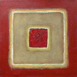 Karree S 5, 2012 Öl und Acryl auf Leinwand, 40 x 40 cm