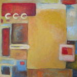 Einstieg II, Acryl auf Leinwand,2007, 110 x 110 cm