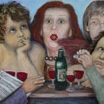 Wie im Himmel, Acryl auf Leinwand, 2008,70 x 140 cm