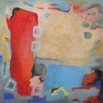 Mobiles Rot III, Acryl auf Leinwand, 2006, 100 x 100 cm