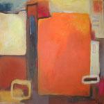 Einstieg I, Acryl auf Leinwand,2007, 110 x 110 cm, Privatbesitz