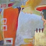 Schlossgarten, 2004, Acryl auf Leinwand, 100 x 120 cm, Privatbesitz
