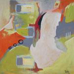 Unterwegs II, 2004, Acryl auf Leinwand, 130 x 130 cm