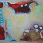 Traumland, 65 x 100 cm, Öl und Acryl auf Leinwand