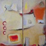 Zeitlos I+2, Acryl auf Leinwand,2008, 120 x 40 cm