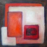 Karree S, Öl und Acryl auf Leinwand, 2009, 40 x 40 cm, Privatbesitz
