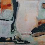 Ohne Titel 1801, Öl und Acryl auf Leinwand, 2018, 80 x 120 cm