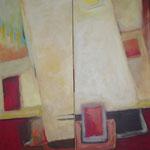 Anfang und Ende I+2, Acryl auf Leinwand,2008, 120 x 40 cm