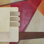 """red visions"", Acryl auf Leinwand, 100 x 280 cm, Privatbesitz"
