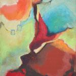 Unterwegs III, 100 x 80 cm, Öl und Acryl auf Leinwand