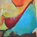 Unterwegs II, 100 x 80 cm, Öl und Acryl auf Leinwand