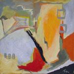 Unterwegs I,2004, Acryl auf Leinwand, 130 x 130 cm