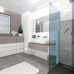 >> Visualisierung Umbau Badezimmer, 3D CAD Rendering  >> Visualization reconstruction bathroom, 3D CAD Rendering