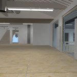>> Visualisierung Umbau Schreinerei Gutmann, Münstertal, 3D CAD Rendering  >> Visualization reconstruction woodwork-shop, Gutmann, Münstertal, 3D CAD Rendering