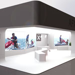 >> Visualisierung Messestand 3D CAD Rendering  >> Visualization Exhibition Stand, 3D CAD Rendering