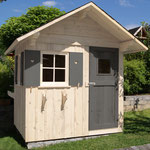 Gartenhaus, Bausatz System, 3D CAD  >> Garden house assembly kit, 3D CAD