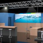 Design und Visualisierung Messestand >> Design and visualization exhibition booth