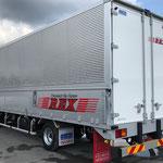 千葉県成田市看板製作 ㈱REX様 トラックマーキング デザイン、製作、施工