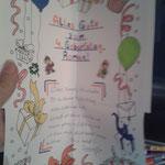 Geburtstagsbrief für Roman. Ava´s ist schon verpackt.