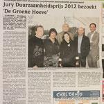Jury Duurzaamheidsprijs bezoekt 'De Groene Hoeve'