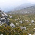Weg auf den Tafelberg über Skeleton Gorge, Blick zurück auf den Back Table