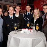 Der Tisch der Geher beim Neujahrsempfang des SC Potsdam (Foto: Gerhard Pohl)