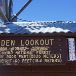 Die Spitze des Mt. Elden ist erreicht