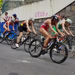 Triathlon der Frauen, mit dabei hier Laura Lindemann aus Potsdam