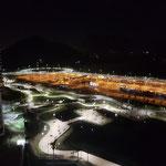 """Blick vom Zimmer auf den """"Busbahnhof"""""""
