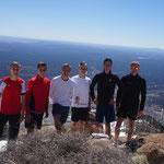 Gruppenfoto mit Blick auf Flagstaff