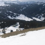 Blick auf das obere Ende des Balderschwanger Tal mit, sowie dem oberen Teil der Langlaufloipe.