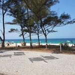 Der Strand von Pontal, Kulisse der Gehwettkämpfe