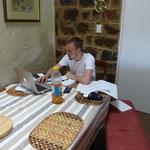 Nils Gloger beim Lernen