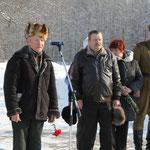 Выступает локнянский ветеран Андрей Никонов