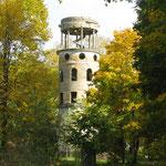 Одна из башен бывшего дворца Брянчанинова