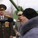 Выступление матери воина, погибшего в Чечне, п. Бежаницы