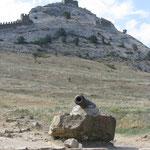 Вид на один из бастионов Генуэзской крепости