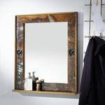 specchio #legno #riciclato #bagno #arredo #vintage